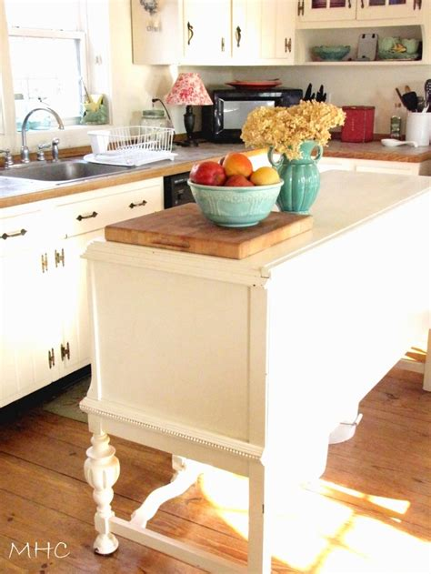 turning sideboard buffet into kitchen island