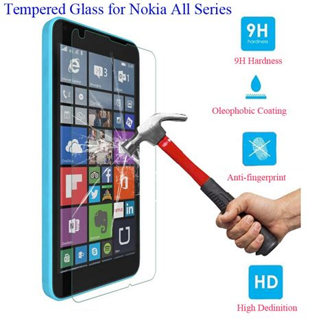 Nokia Lumia 540 25d Tempered Glass Protection Screen 0 2010 0 3mm front tempered glass screen protector for nokia