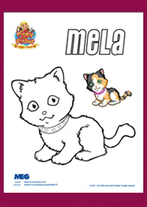 coloring pages puppy in my pocket puppy in my pocket coloring page mela