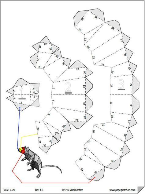 3d Papercraft Templates - paper pet rat 3d papercraft template paperpetshop