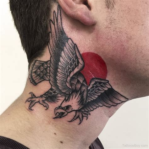 collar tattoos eagle on neck
