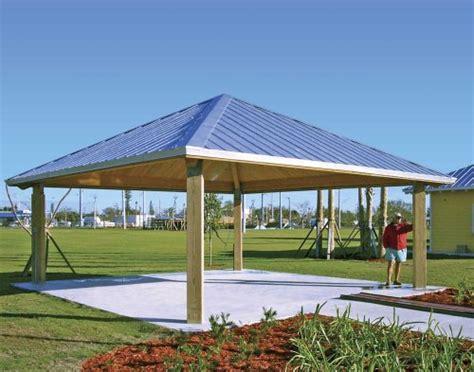 metall pavillon forestview square pavilion wood steel frame all steel