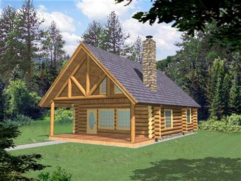 Log Homes Plans And Designs | small log home with loft small log cabin homes plans