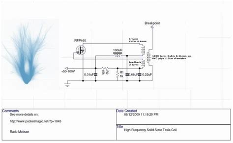 How To Build A Solid State Tesla Coil High Frequency Solid State Tesla Coil Hf Sstc Pocketmagic