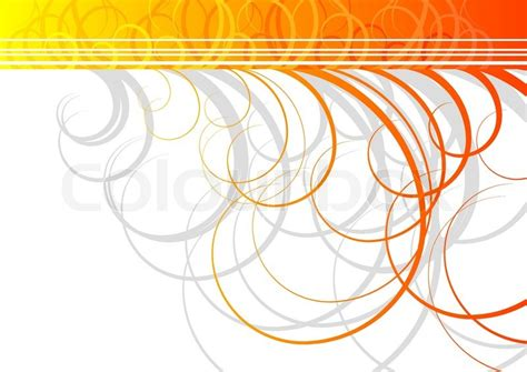 Grey And White Home Decor swirl vector background in orange color stock vector