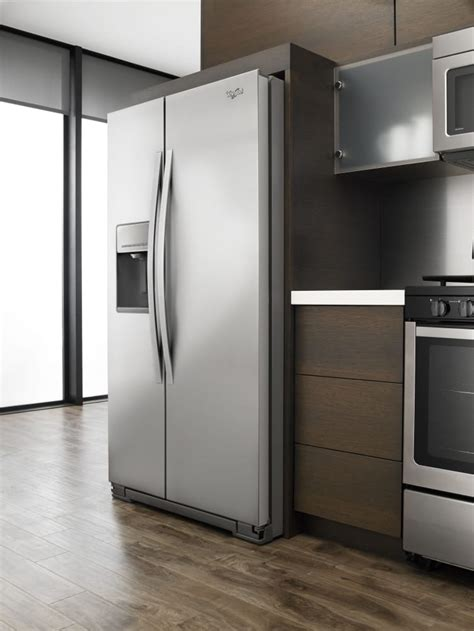 Side Kitchen by Whirlpool Wrs576fidm 36 Inch Side By Side Refrigerator