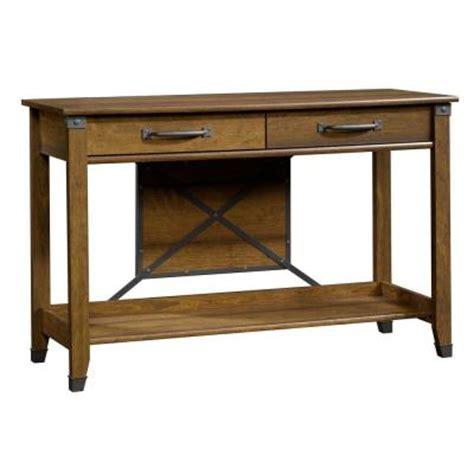 sauder carson forge sofa table washington cherry finish sauder carson forge collection washington cherry rectangle