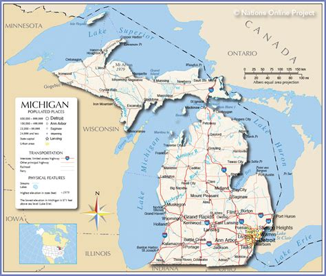 map michigan usa map of michigan cities roundtripticket me