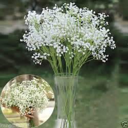 silk baby s breath 6pcs babys breath gypsophila artificial silk flower home wedding decor ebay