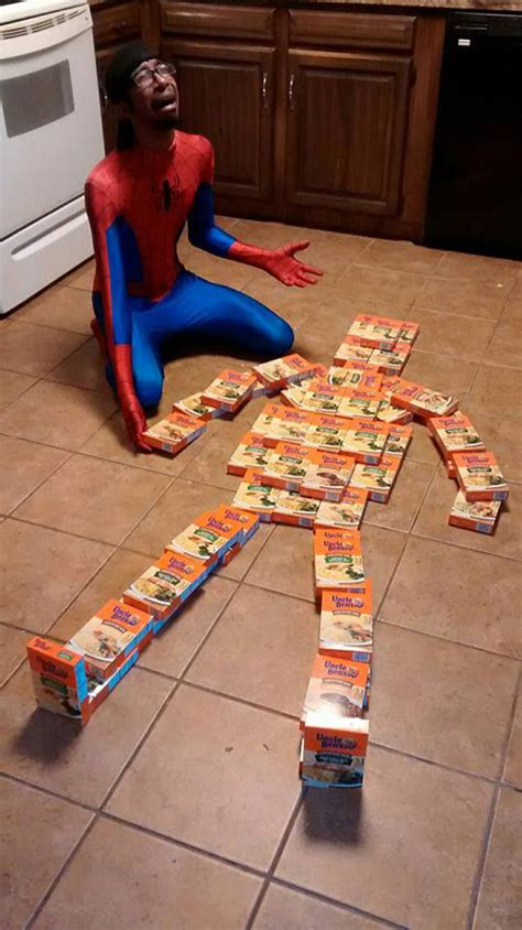 Spiderman Rice Meme - no uncle ben