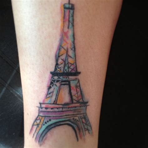 henna color tattoo eiffel tower water color tattoos