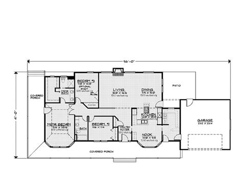 home design 9358 country style house plan 2 beds 2 baths 2018 sq ft plan