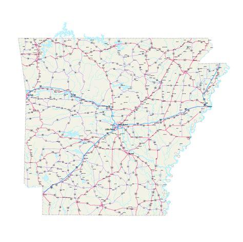 printable road map arkansas popular 206 list arkansas road map