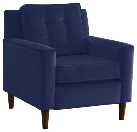 Navy Velvet Accent Chair Velvet Armchair Navy Transitional Armchairs And Accent Chairs By Skyline Furniture Mfg Inc