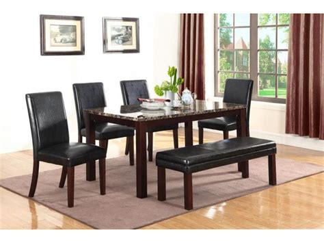 brown marble top dining table set shop for