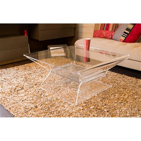 table basse carr 233 e transparente design barnab 233 ribay