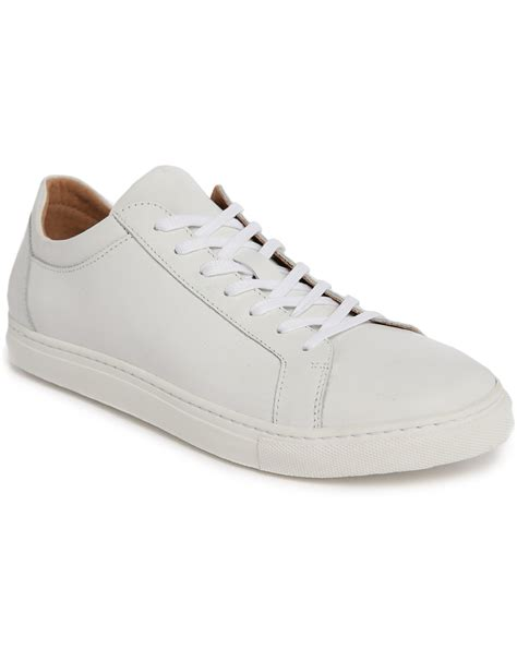 low top sneakers for selected white duran leather low top sneakers with beige
