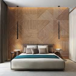 bedroom wall panel design ideas:  bedroom design featuring wooden panel wall home design and interior