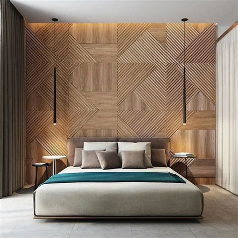 Designer Walls For Bedroom 20 Modern And Creative Bedroom Design Featuring Wooden Panel Wall Home Design And Interior