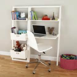 Small Kid Desk Sloane Leaning Desk White Modern Desks And Desk Sets By The Land Of Nod