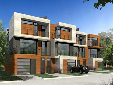 modern duplex house plans narrow duplex house plans new