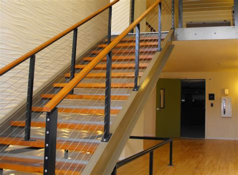 contemporary stair rails and banisters stair cable railing modern staircase by ultra tec cable railing by the cable