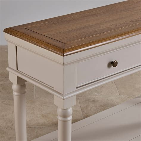 Oak Furniture Land Console Table Shay Console Table In Painted Rustic Oak Oak Furniture Land