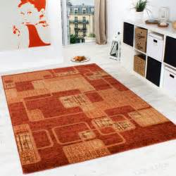 www teppich domaene de teppich wohnzimmer teppich retro muster meliert in