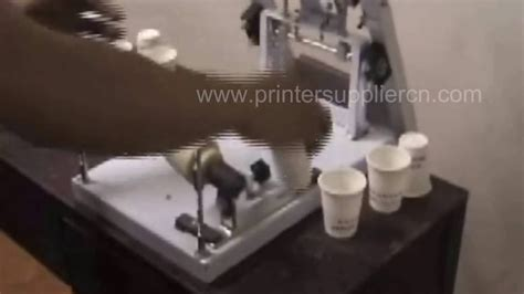 writing printing paper machine manual cup cylinder screen printer paper cup screen