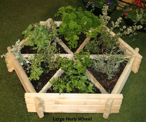Primrose Garden Planters by Wooden Herb Wheel Planter 163 49 99