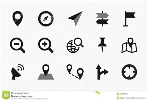 map symbols map icon vector www pixshark images galleries with