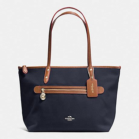 Coach Sawyer Tote F37237 Bright Mineral Pepper Black coach f37237 sawyer tote in polyester twill imitation