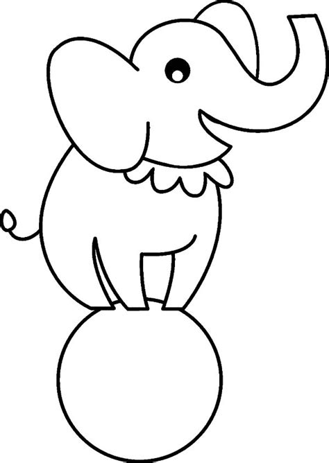 elephant outline coloring pages download coloring pages elephant page very cute small