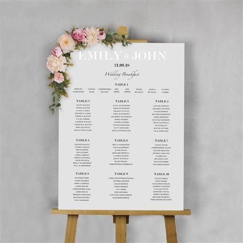 modern traditional wedding table plan   florence