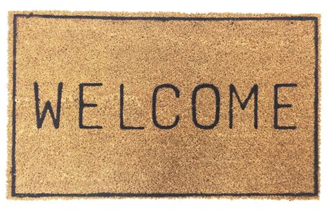 Designer Kitchen Tiles Vinyl Backed Welcome Coco Doormat With Border Coco Mats