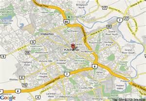 waterloo ontario canada map map of crowne plaza kitchener waterloo kitchener