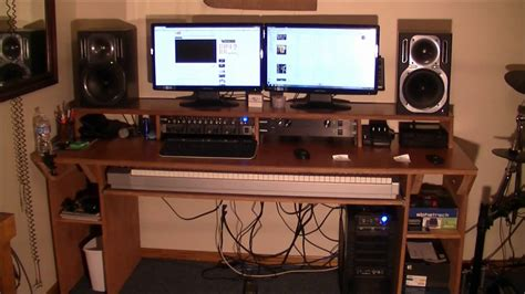 home music studio desk video response to cjd how to build a recording studio