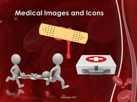powerpoint template 3d red blood cells going through the red blood cell vein a powerpoint template from