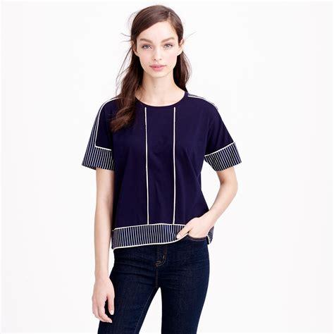 Cy50829 T Shirt Top Blouse Printed Import mixed print t shirt j crew