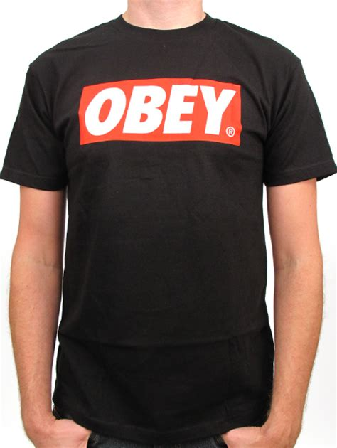 Tshirt Obey The Beagless fancy obey bar logo basic t shirt standard issue