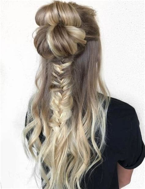 neat half up half down hairstyles new ways for styling half up half down hairstyles 2017