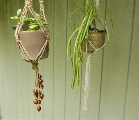 How To Make A Plant Hanger With Rope - diy macrame plant hangers