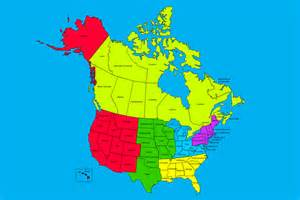 map of usa and canada with states and cities united states and canada sales territory map