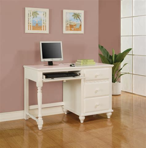 Childrens White Wooden Desk by Coaster Furniture Pepper Collection White Bedroom Set
