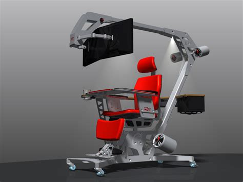 Ergonomic Gaming Desk Ultimate Computer Setups Cool Computer Room Design