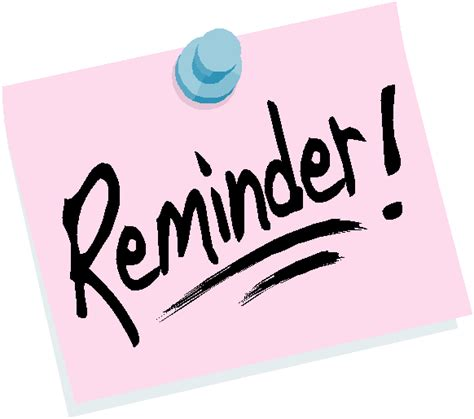 Reminders And Requestson Thursday I Will Be A by Lindeneau Pto Reminder General Meeting Thursday
