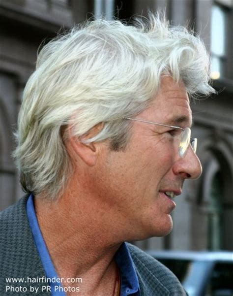 over 50 male gray hair richard gere with silver hair and sporting a classic