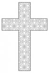 crosses to color free printable cross coloring pages