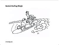 surfing santa coloring page how to draw santa surfing