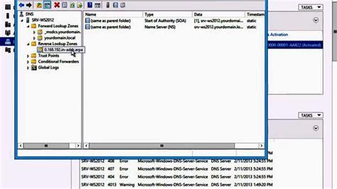 windows server  configuring dns reverse lookup zone